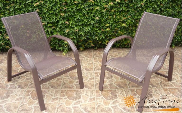 cadeira tela marrom