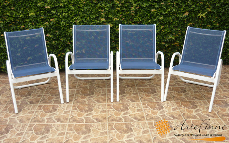 reforma cadeira sling azul